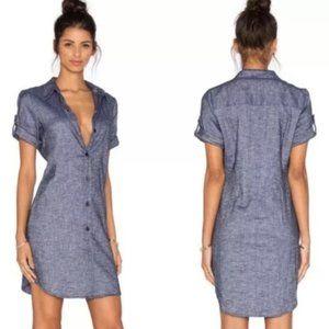 Theory Mayvine Tierra Linen Blend Shirt Dress